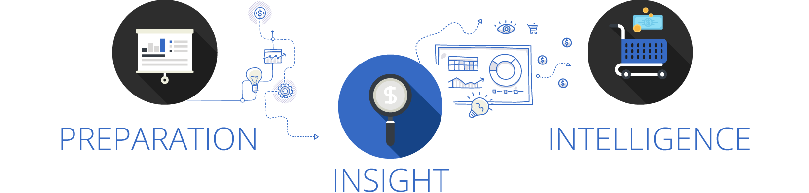 Preparation, Insight and intelligence graphic